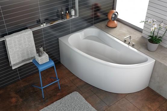 Ассиметричные акриловые ванны Kolpa-san