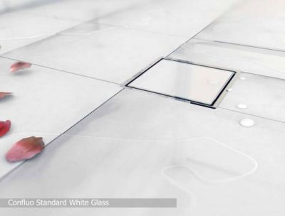 Трап Confluo Standard Vertical White Glass
