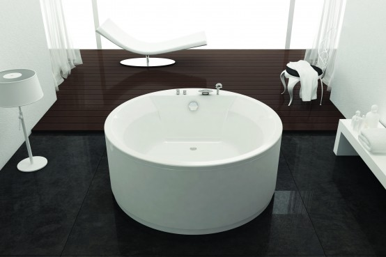Круглые акриловые ванны Kolpa-san