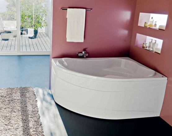 Угловые акриловые ванны Kolpa-san